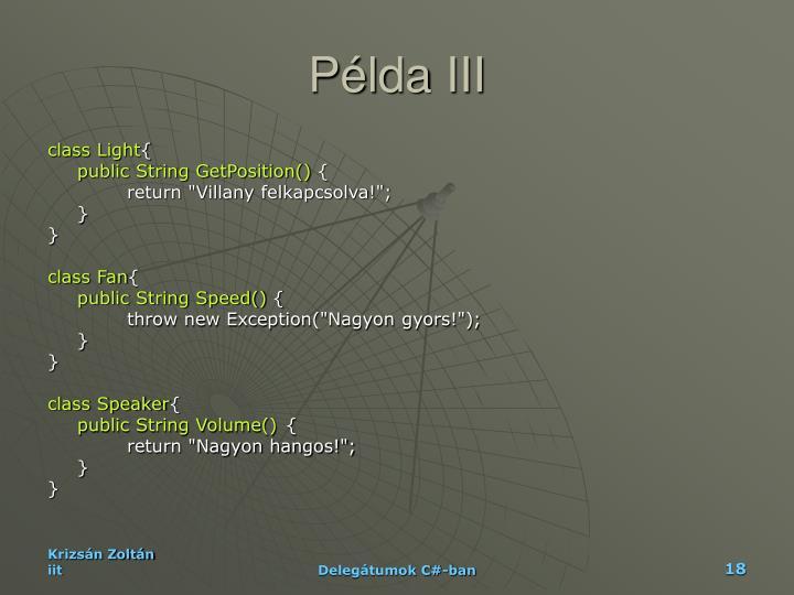 Példa III
