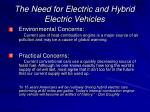 the need for electric and hybrid electric vehicles