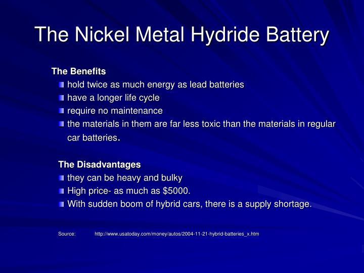 The Nickel Metal Hydride Battery