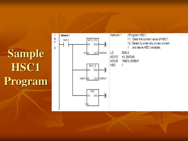 Sample HSC1 Program
