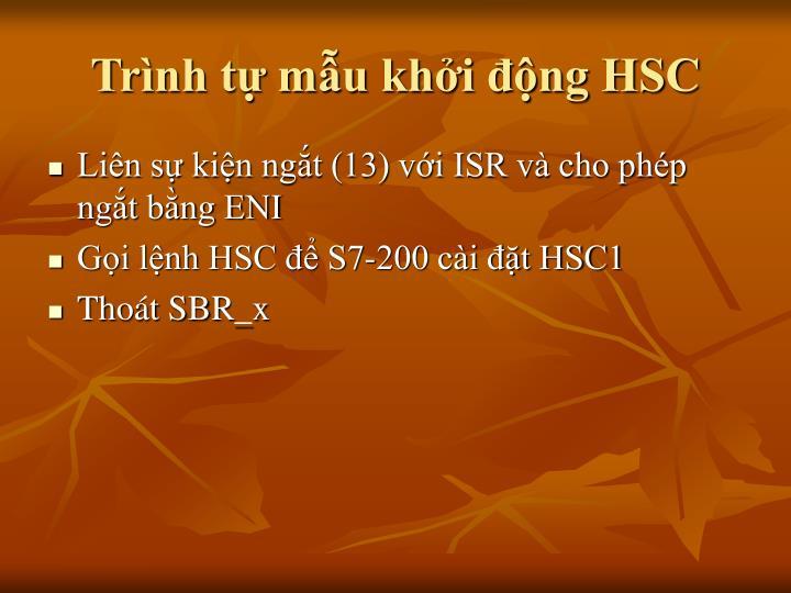 Trình tự mẫu khởi động HSC