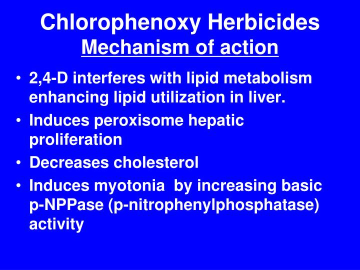 Chlorophenoxy Herbicides