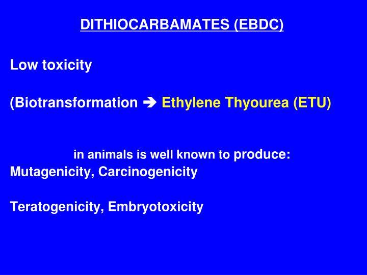 DITHIOCARBAMATES (EBDC)