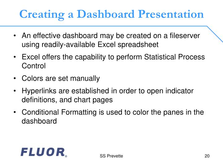 Creating a Dashboard Presentation