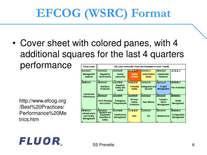 EFCOG (WSRC) Format