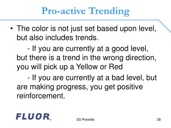 Pro-active Trending