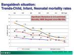 bangaldesh situation trends child infant neonatal mortality rates