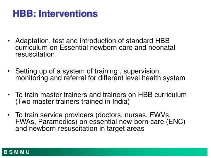 HBB: Interventions