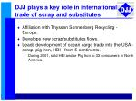 djj plays a key role in international trade of scrap and substitutes