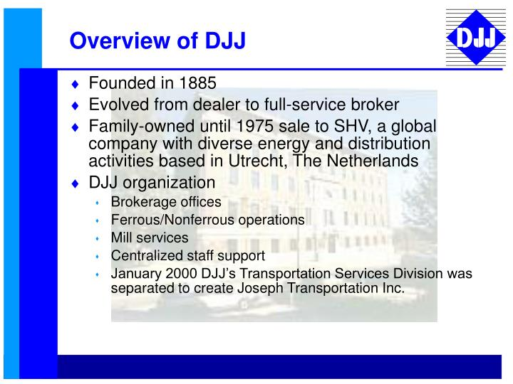 Overview of DJJ