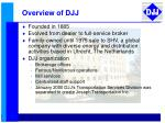 overview of djj