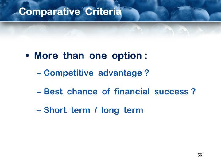 Comparative  Criteria