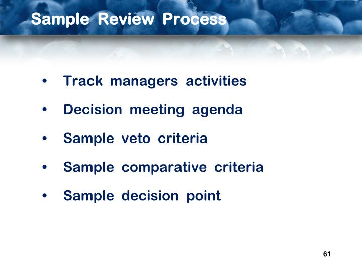 Sample  Review  Process