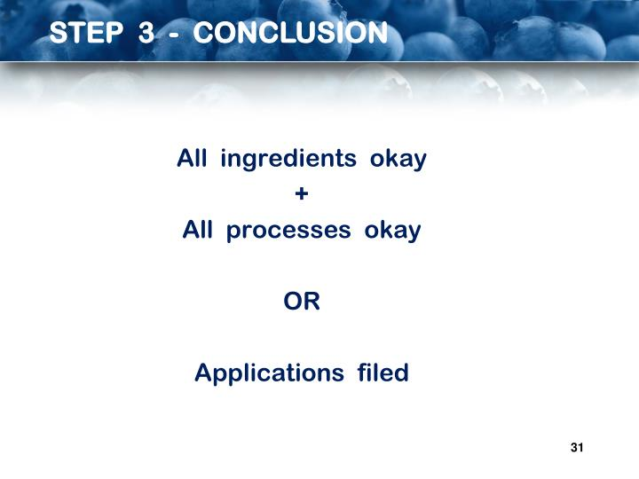 STEP  3  -  CONCLUSION