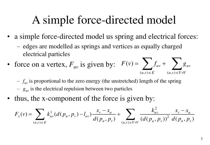 A simple force directed model
