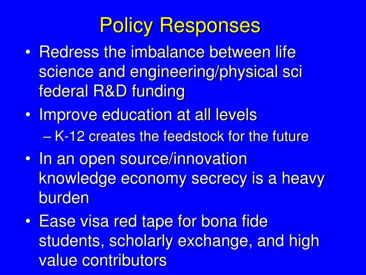 Policy Responses