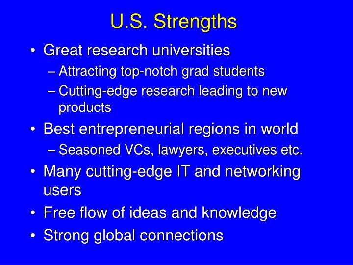 U.S. Strengths