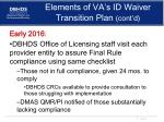 elements of va s id waiver transition plan cont d3