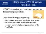 elements of va s id waiver transition plan