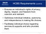 hcbs requirements cont d