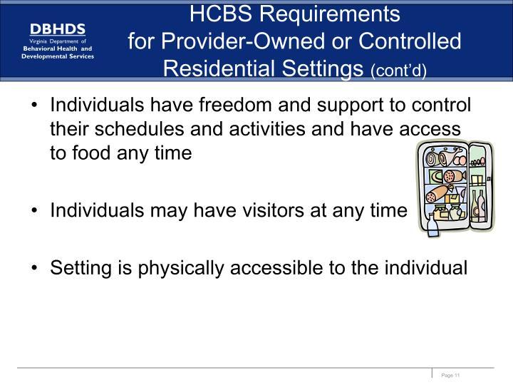 HCBS Requirements