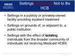 settings presumed not to be hcb