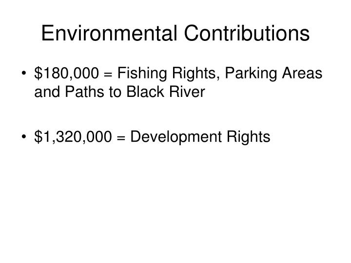 Environmental Contributions