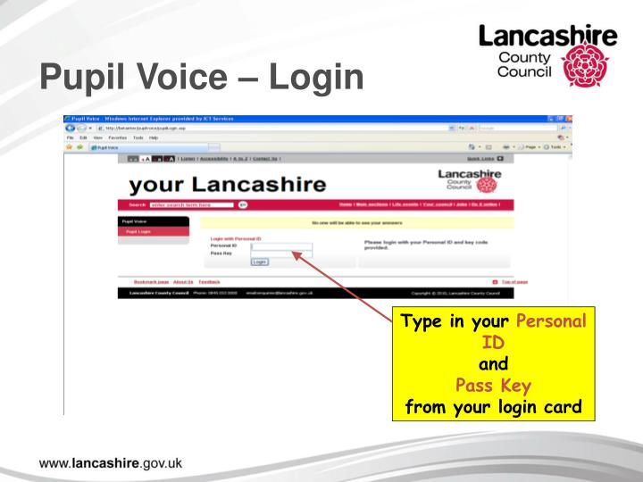 Pupil Voice – Login