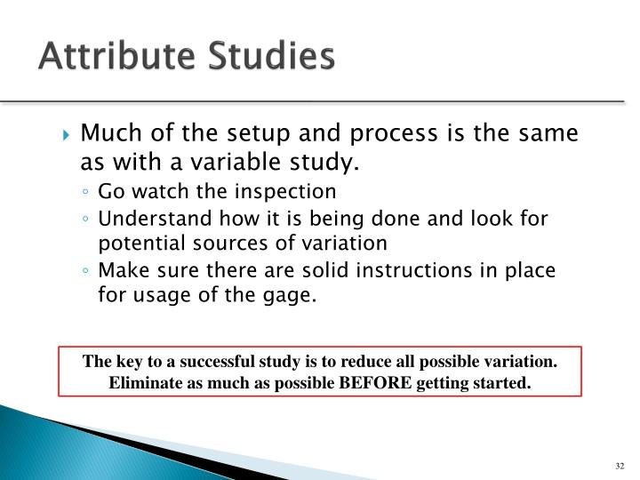 Attribute Studies