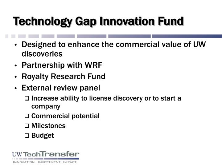 Technology Gap Innovation Fund