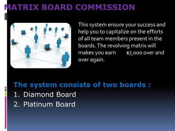 MATRIX BOARD COMMISSION