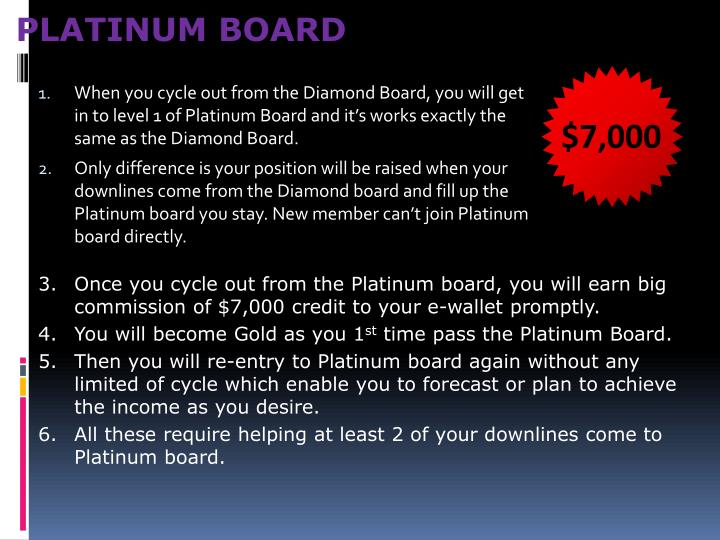 PLATINUM BOARD