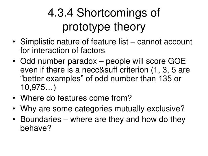 4.3.4 Shortcomings of