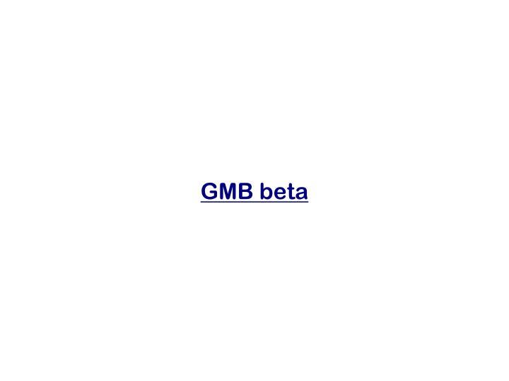 GMB beta