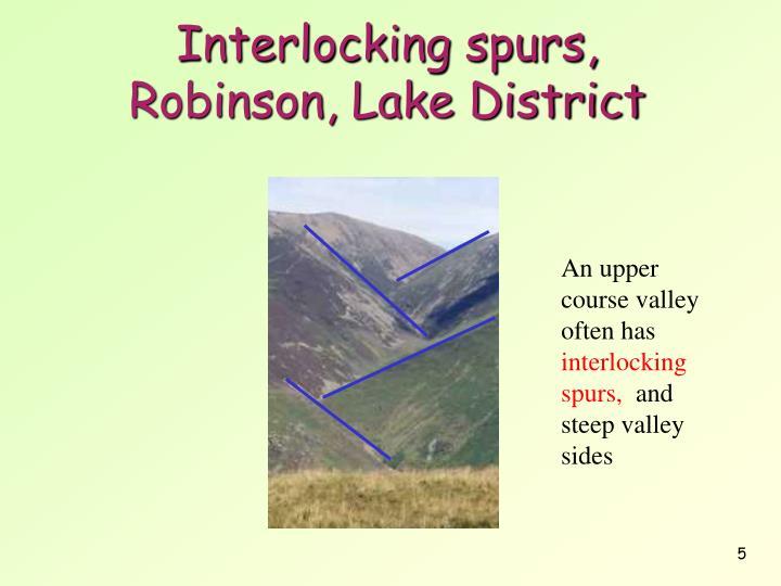 Interlocking spurs,