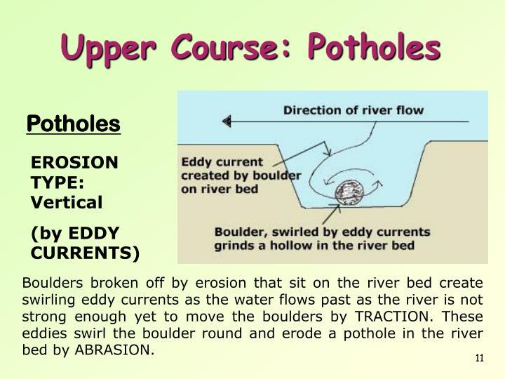 Upper Course: Potholes