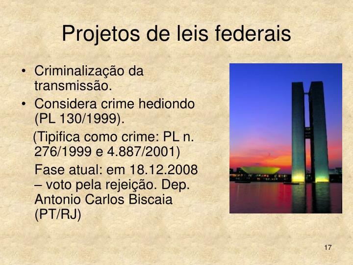 Projetos de leis federais