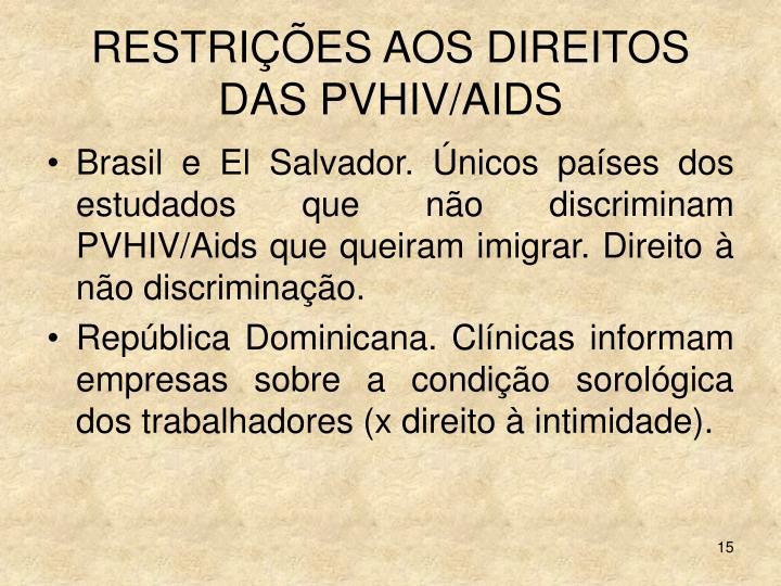 RESTRIÇÕES AOS DIREITOS