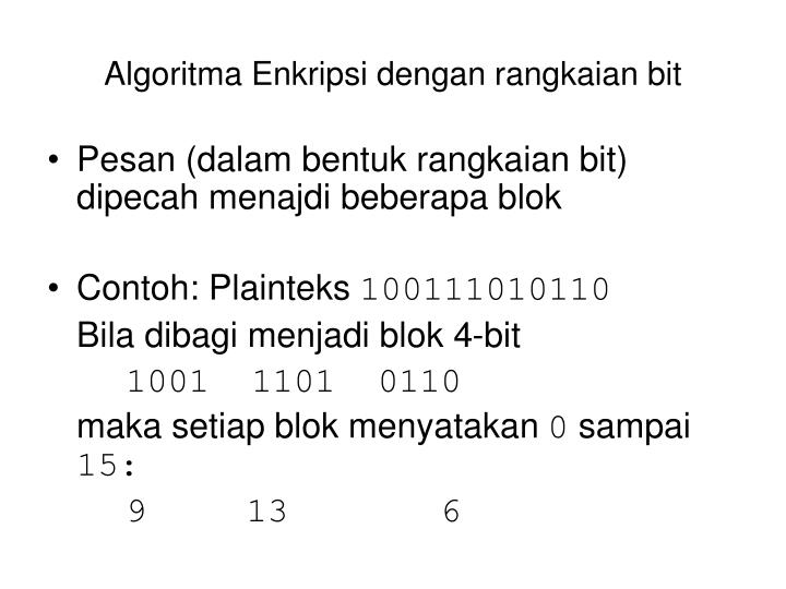 Algoritma Enkripsi dengan r