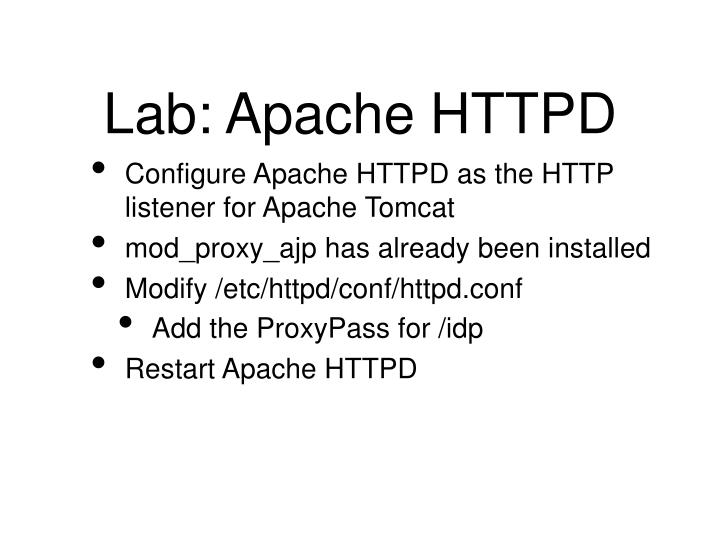 Lab: Apache HTTPD