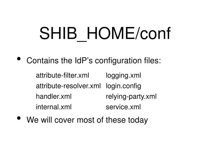 SHIB_HOME/conf
