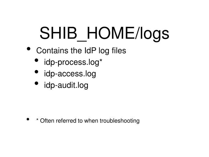 SHIB_HOME/logs