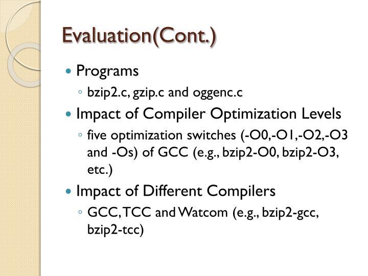 Evaluation(Cont.)