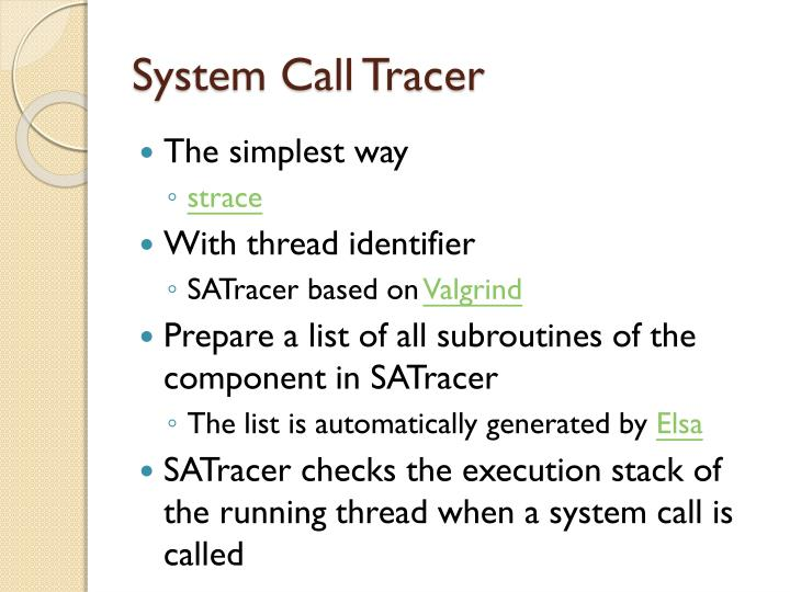 System Call Tracer
