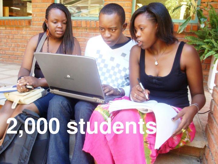 2,000 students