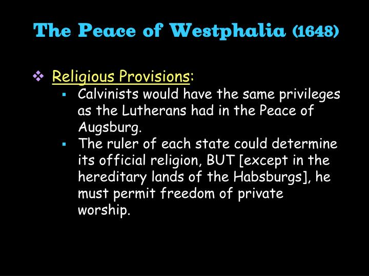 The Peace of Westphalia