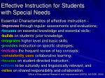 effective instruction for students with special needs