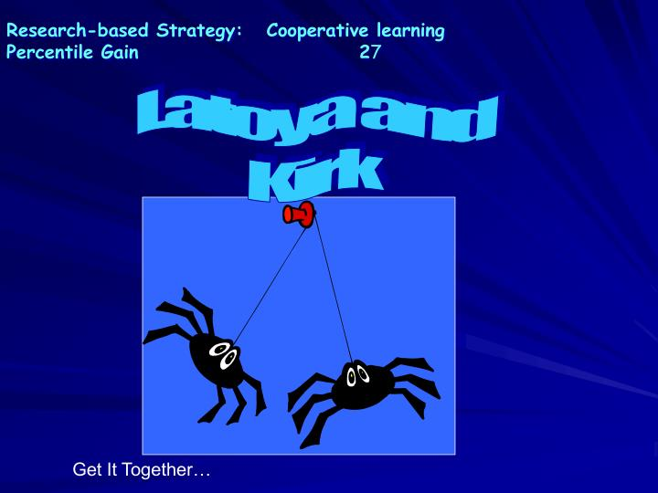 Research-based Strategy:   Cooperative learning
