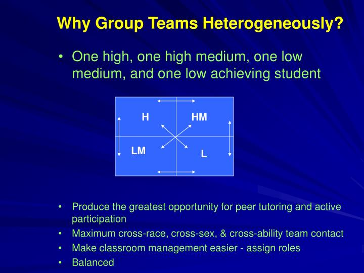 Why Group Teams Heterogeneously?