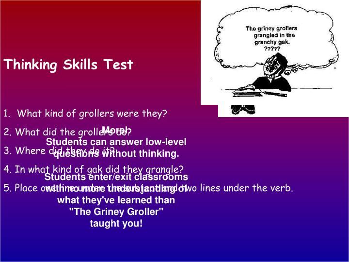 Thinking Skills Test